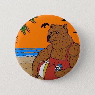 Strand-Bärn-Knopf Runder Button 5,7 Cm