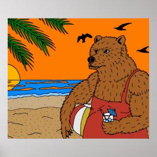 Strand-Bärn-Plakat Poster