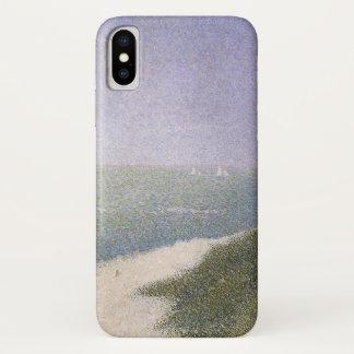 Strand bei Honfleur durch Georges Seurat, Vintage iPhone X Hülle
