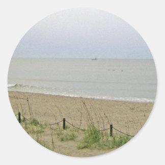 Strand-Bereich Runder Aufkleber