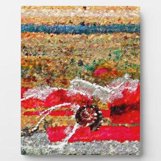 Strand-Bilder abstrakt Fotoplatte