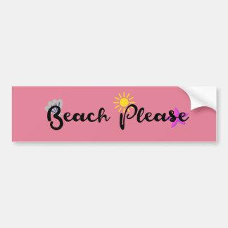 Strand bitte autoaufkleber