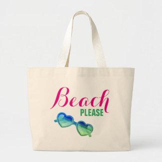 Strand, bitte! jumbo stoffbeutel
