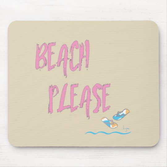 Strand-bitte tropische Art-Sommer-Grafik Mauspad