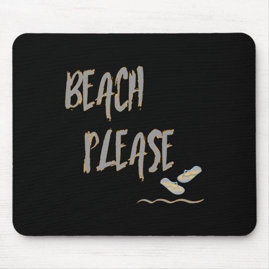 Strand-bitte tropische Art-Sommer-Grafik Mousepad