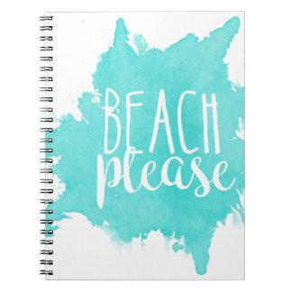 Strand-bitte Weiß Notizblock