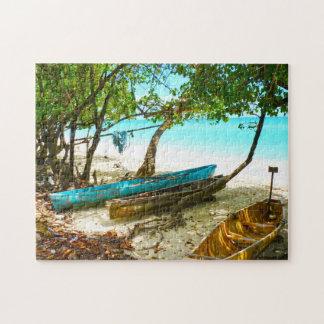 Strand-Boote Jamaika Puzzle