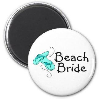 Strand-Braut drehen Sie Reinfall um Kühlschrankmagnete