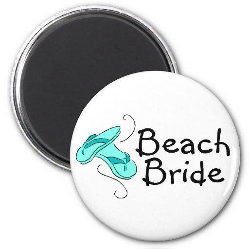Strand-Braut (Strand-Hochzeit) Kühlschrankmagnete