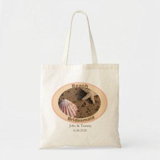 Strand-Brautjungferstarfish-und SeeMuschel-Entwurf Tragetasche