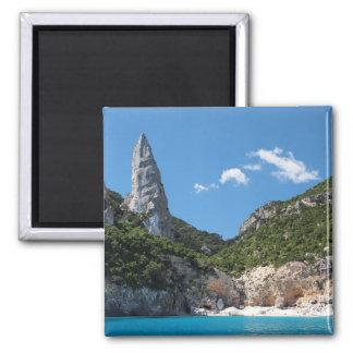 Strand Calas Goloritze, Sardinien-Magnet Quadratischer Magnet