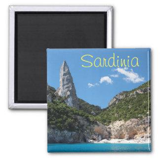 Strand Calas Goloritze, Sardinien-Textmagnet Quadratischer Magnet