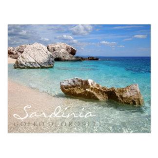 Strand Calas Mariolu, Sardinien-Textpostkarte Postkarte