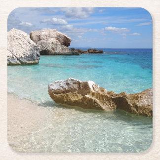Strand Calas Mariolu, Sardinien-Untersetzer Rechteckiger Pappuntersetzer
