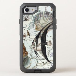 Strand-Collage schäbig OtterBox Defender iPhone 8/7 Hülle