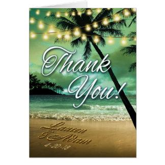 Strand danken Ihnen FRAGEN MICH, UM NAMEN IN SAND Karte
