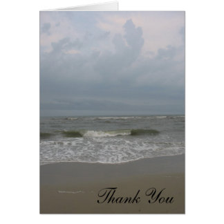 Strand danken Ihnen Karte