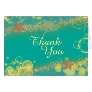 Strand danken Ihnen PERSONIFIZIEREN aquamarines Karte