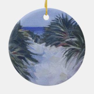 Strand-Dünen-Landschaftsküste-Weg Keramik Ornament