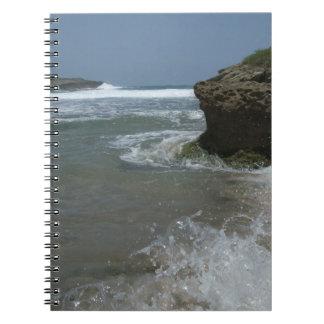 Strand-Elemente Spiral Notizblock