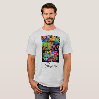 Strand Farben und Geometrie T-Shirt