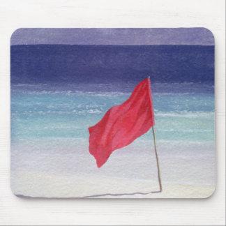 Strand-Flagge - Sturm, der 1985 warnt Mousepad