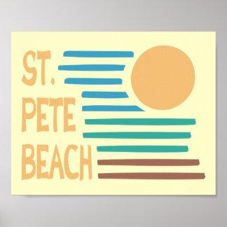 Strand-Floridas St. Peter geometrischer Poster