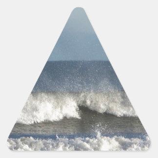 Strand-Fotografie Dreieckiger Aufkleber