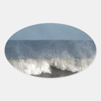 Strand-Fotografie Ovaler Aufkleber