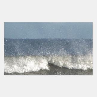Strand-Fotografie Rechteckiger Aufkleber