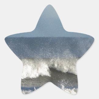 Strand-Fotografie Stern-Aufkleber