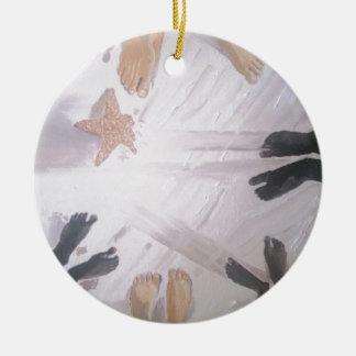 Strand-Füße Keramik Ornament