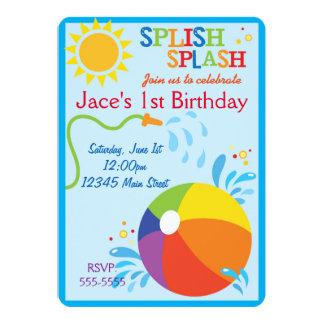 Strand-Geburtstags-Einladung Karte