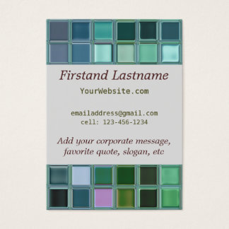 Strand-Glasmosaik-Fliesen-Kunst Jumbo-Visitenkarten