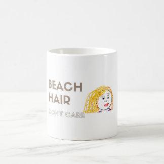 Strand-Haar, interessieren sich nicht Kaffeetasse