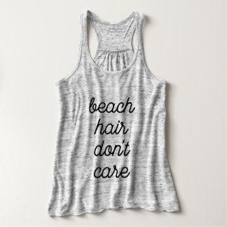 Strand-Haar interessieren sich nicht Tank Top