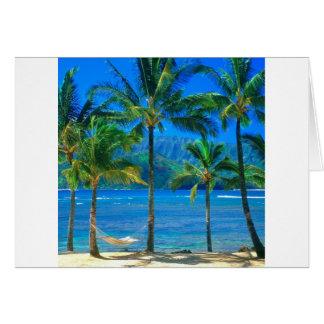 Strand-Hängematte Kauai Hawaii Karte