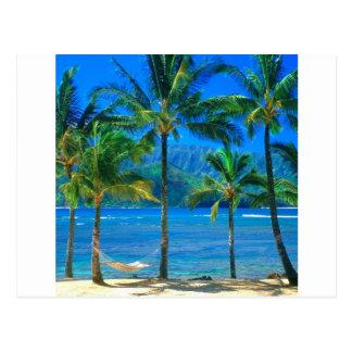 Strand-Hängematte Kauai Hawaii Postkarte