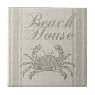 Strand-Haus-Krabben-Sandyküstendekor Keramikfliese