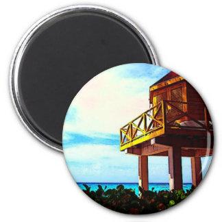 Strand-Haus Runder Magnet 5,7 Cm