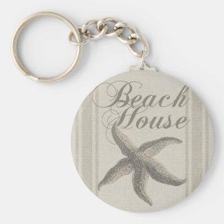 Strand-Hausstarfish-Sandyküstendekor Schlüsselanhänger