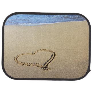 Strand-Herzen im Sand Automatte