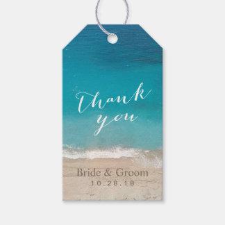 Strand-Hochzeit danken Ihnen Geschenkanhänger