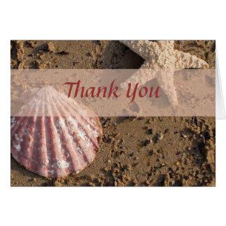 Strand-Hochzeit danken Ihnen Karten