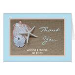 Strand-Hochzeit danken Ihnen zu kardieren Grußkarte