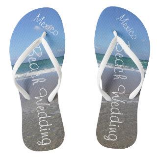 Strand-Hochzeit | drehen der Reinfall-| Ozean Flip Flops