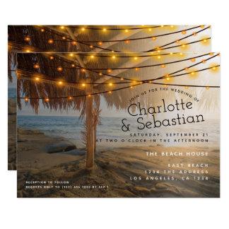 Strand-Hochzeit personalisiert Karte