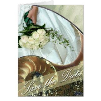Strand-Hochzeit Save the Date Karte