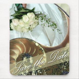 Strand-Hochzeit Save the Date Mousepad