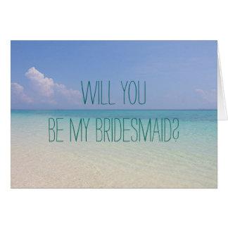 Strand-Hochzeit sind Sie meine Grußkarte